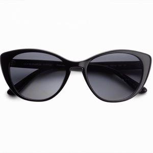 Oliver Peoples Haley Black Sunglasses